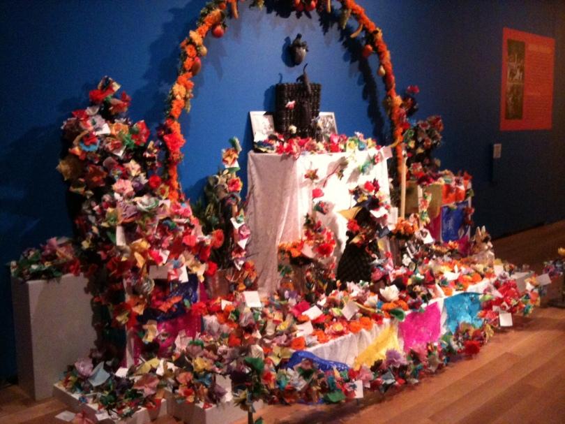 Frida Kahlo and Diego Rivera shrine at the AGO exhibit